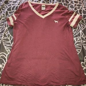 Rose red colored t-shirt from PINK